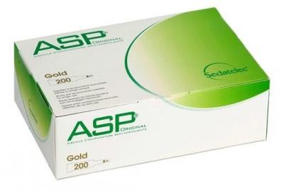 ASP Dauernadeln Gold 200er Packung