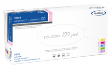Nitril-Einweghandschuhe solution 100 pink