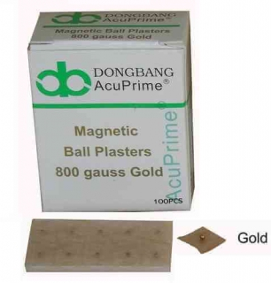Magnetische Ohrkugel, vergoldet
