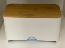 Mundschutz-Dispenser Box mit Holzdeckel
