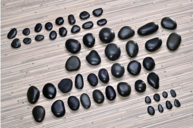 Basaltsteine 54-teilig, Premium Qualität