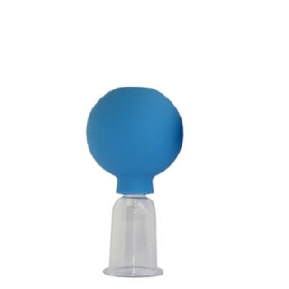 Schröpf-Acrylglas mit Ball (blau)