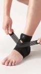 Phiten DayFit Fussgelenk Bandage Verstellbar M (21 - 25 cm) Schwarz