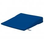 Sitzkeilkissen mit blauem Baumwollbezug