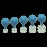 Schröpfglas mit Ball, blau