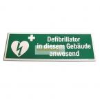 Sticker Defibrillator in diesem Gebäude anwesend