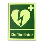 Langnachleuchtendes AED Hinweisschild