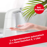 Desinfektionsmittelspender mit Sensor und 10 Liter Händedesinfektionsmittel