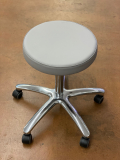 Arbeitshocker mit rundem Polstersitz mit Ring - Demo-Modell