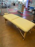 2-Zonen Massageliege - Holz mit Comfort-Polster